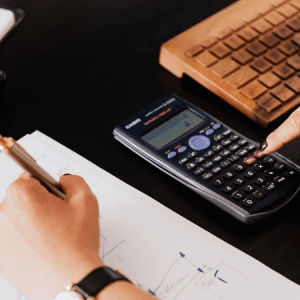 Calculadora representando como calcular valuation