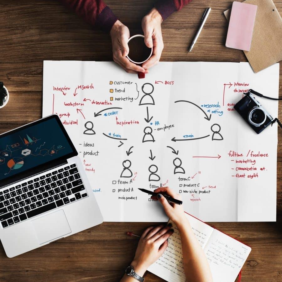 Gestor pensando em sua estratégia de Networking