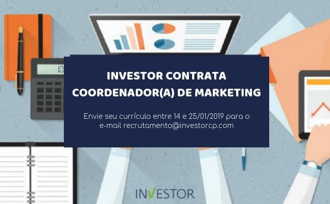 Investor contrata: Coordenador(a) de Marketing