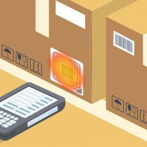 Ilustração demonstrando tecnologia RFID