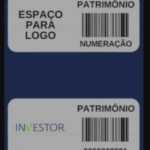 Exemplo da etiqueta RFID da Investor para controle patrimonial