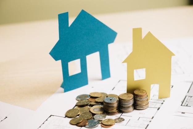 moedas e casas avaliação imobiliária