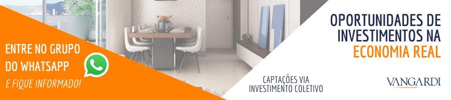 Grupo de whatsapp da Vangardi para informar sobre as oportunidades de investimento.