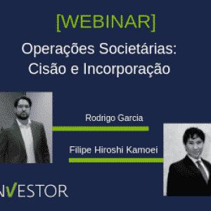 Membros participantes do Webinar sobre Operaçoes Societarias: Cisão e Incorporação