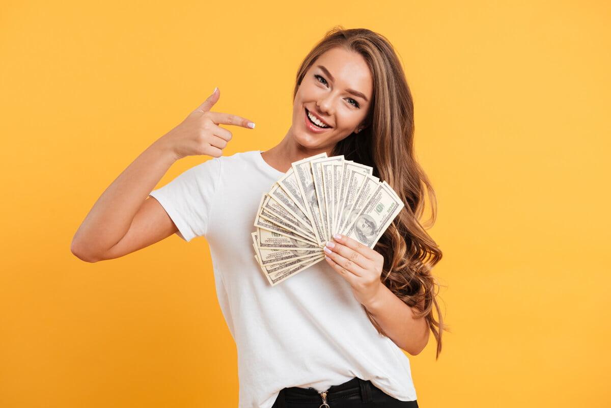 mercado de cambio mulher dinheiro