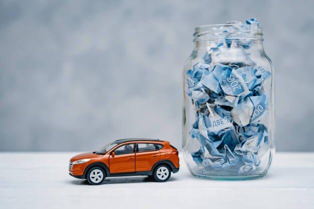 carro e pote de dinheiro taxa de depreciação de máquinas e equipamentos